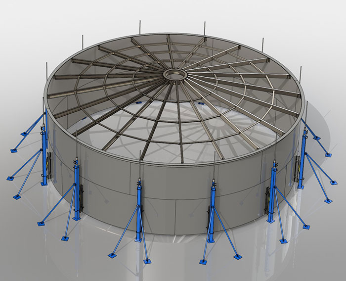 3D CAD Storage tank design